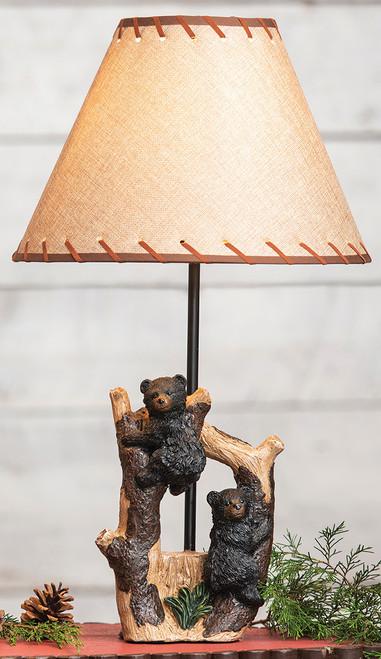 Black Bear Cubs Table Lamp