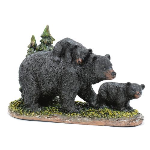 Black Bear Family Figurine