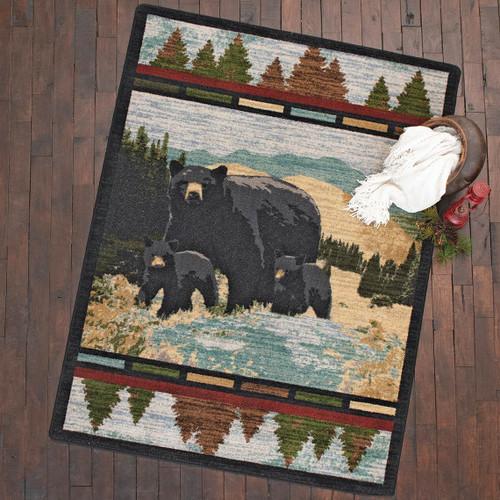 Black Bear Foothills Rug - 8 x 11