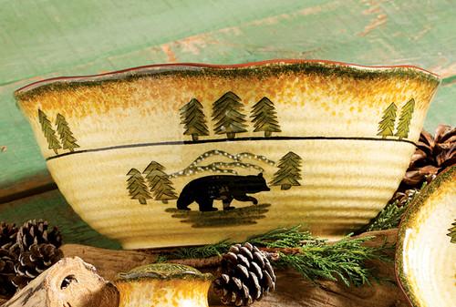 Black Bear Forest Serving Bowl