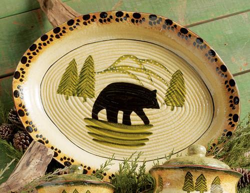Black Bear Forest Serving Platter