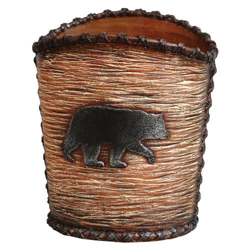 Black Bear Hideaway Waste Basket