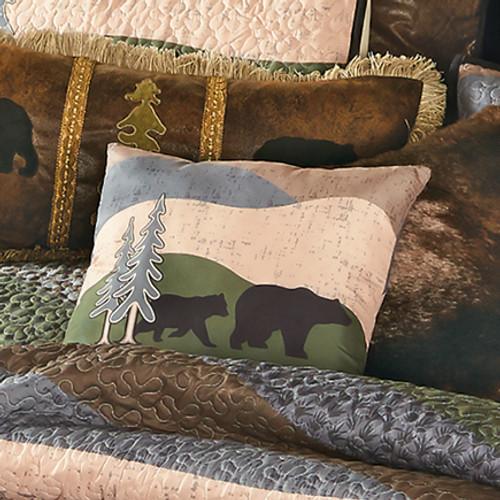 Black Bear Hills Accent Pillow