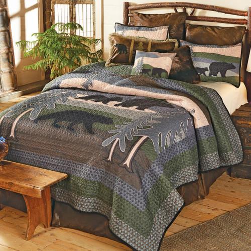 Black Bear Hills Quilt Set - Queen - BACKORDERED UNTIL 1/7/2022