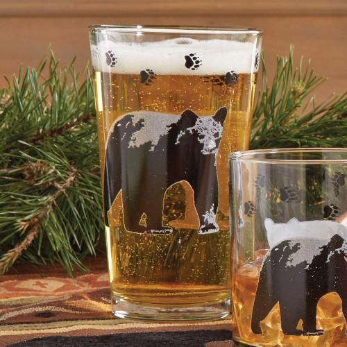 Black Bear Iced Tea Glasses (set of 4) - BACKORDERED UNTIL - 01/15/2022