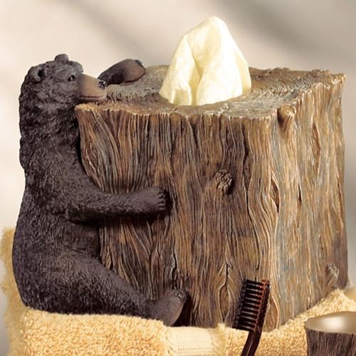 Black Bear Lodge Tissue Box
