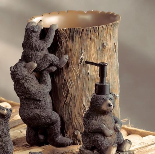 Black Bear Lodge Waste Basket