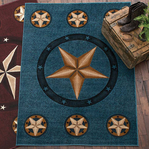 Lone Star Blue Rug Collection