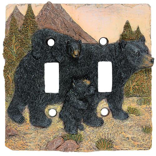 Black Bear Mountain Double Switch Plate