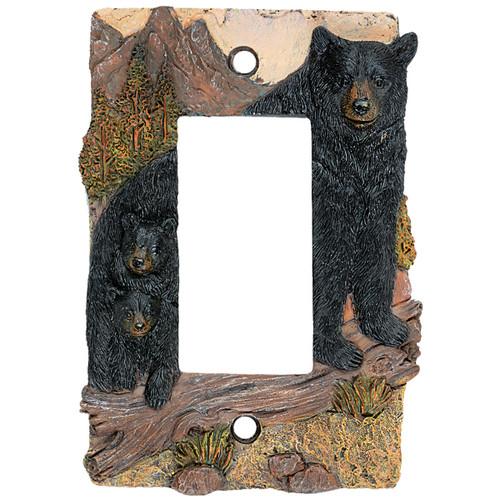 Black Bear Mountain Single Rocker Plate