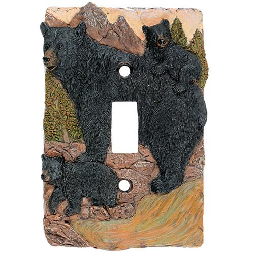 Black Bear Mountain Single Switch Plate