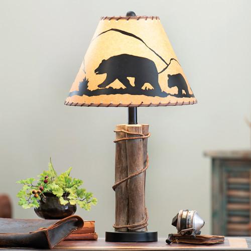 Black Bear Mountain Table Lamp