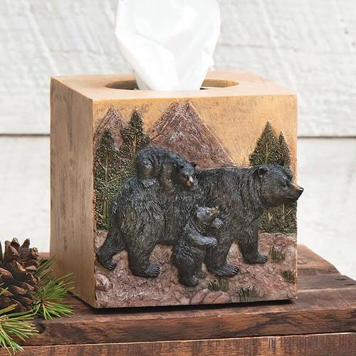 Black Bear Mountain Tissue Box