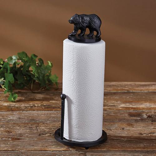 Black Bear Paper Towel Holder