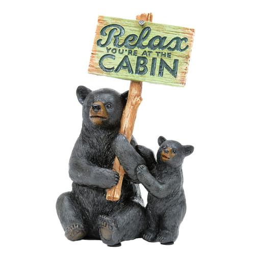 Black Bear Relax Figurine
