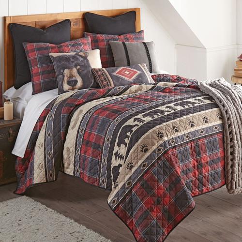 Black Bear Ridge Plaid Quilt Set - Twin - BACKORDERED UNTIL 12/2/2021