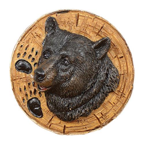 Black Bear Round Cabinet Knob
