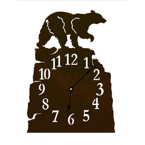 Black Bear Table Clock
