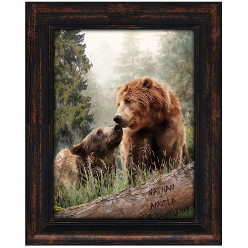 Loving Bears Personalized Framed Canvas