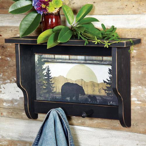 Black Bear Wall Shelf