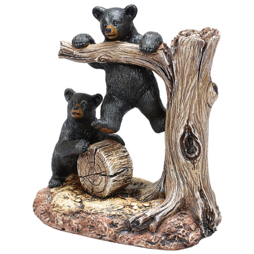 Black Bears Lookout Figurine