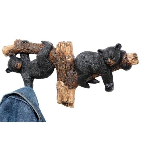Black Bears on Branch Wall Hooks