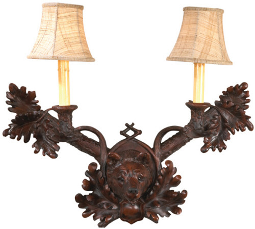 Black Forest Bear Wall Sconce