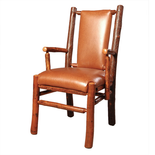 Black Forest Hickory Recessed Arm Chair