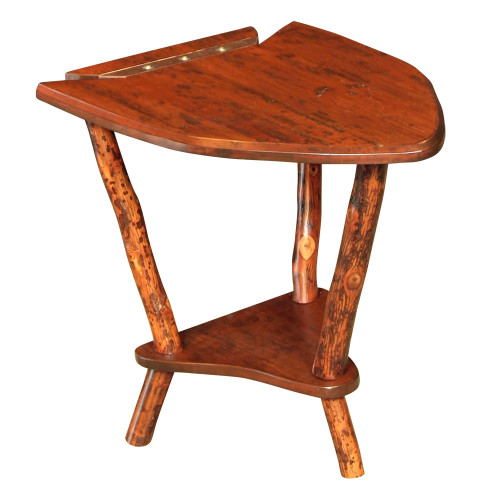 Black Forest Hickory Dovetail Point Side Table