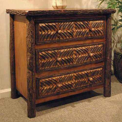 Black Forest Hickory Mosaic Bachelor's Chest