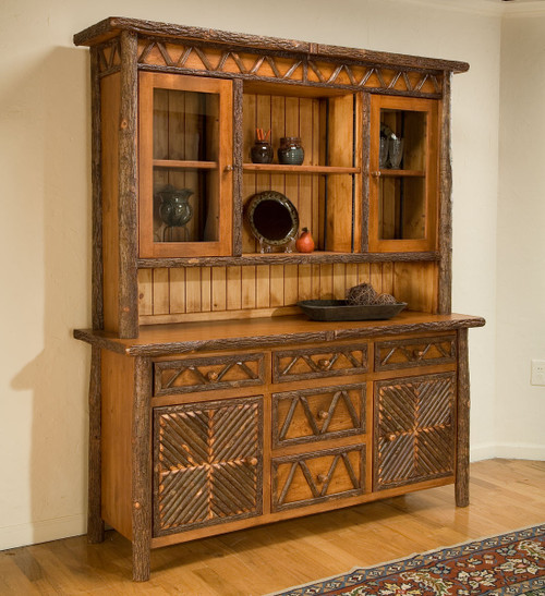 Black Forest Hickory Mosaic Hutch