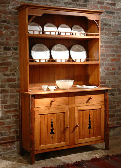 Black Forest Hickory Pine Tree Hutch