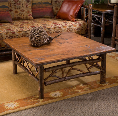Black Forest Hickory Woodsman Cocktail Table