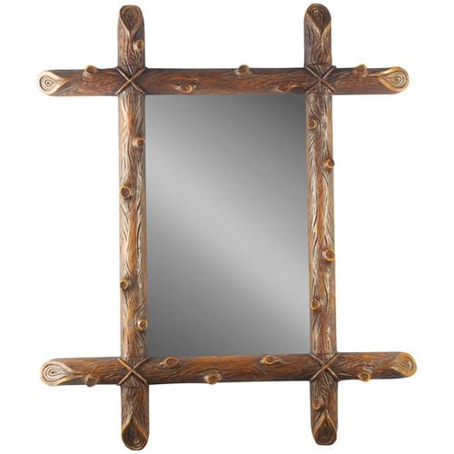 Black Forest Log Beveled Mirror