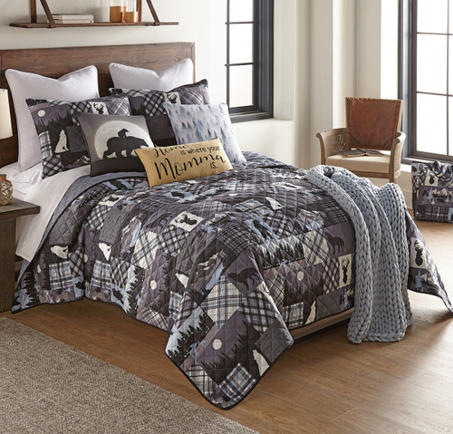 Midnight Forest Quilt Bedding Collection