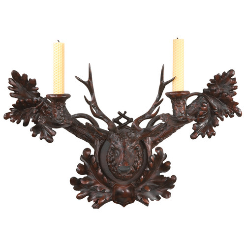 Black Forest Stag Wall Candleholder