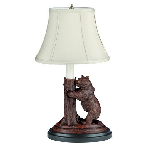 Black Forest Standing Bear Lamp