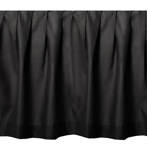 Black Night Gathered Bedskirt - Twin
