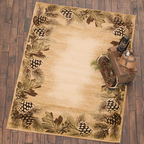 Misty Pinecones Rug Collection