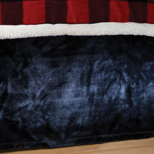 Black Plush Bedskirt - Queen
