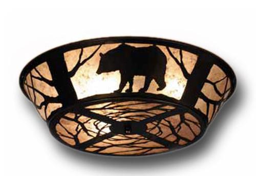 Black Bear Flush Mount Light