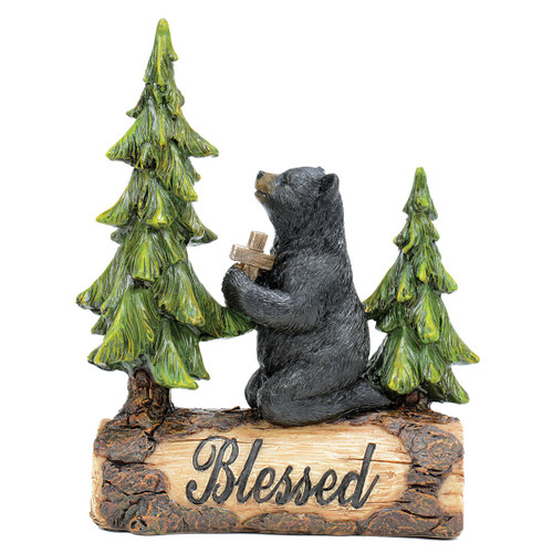 Blessed Praying Bear Figurine