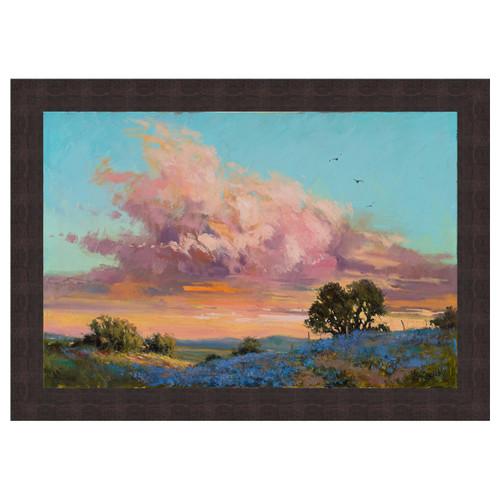 Blue Sunset Framed Canvas