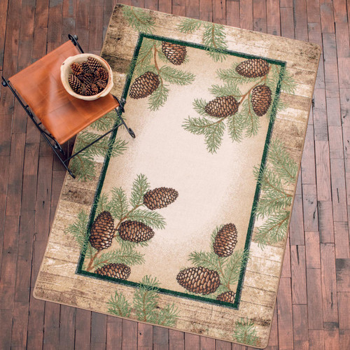 Bowing Branches Rug - 5 x 8
