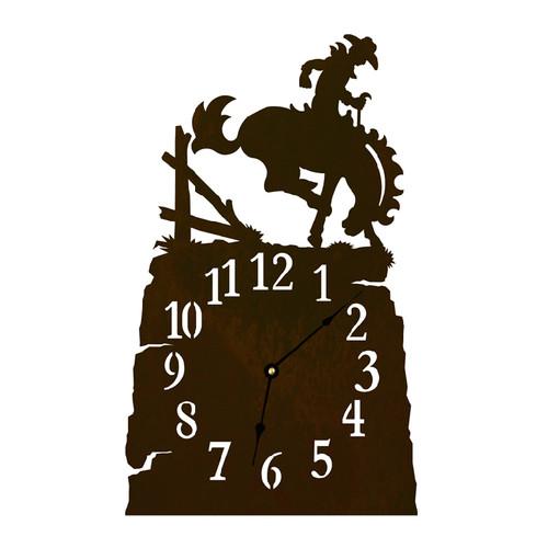 Bronc Table Clock