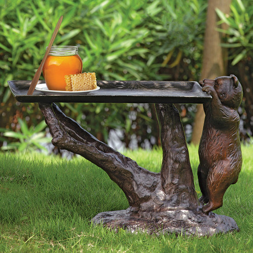 Bronze Finish Bear Table - OUT OF STOCK UNTIL 11/23/2021