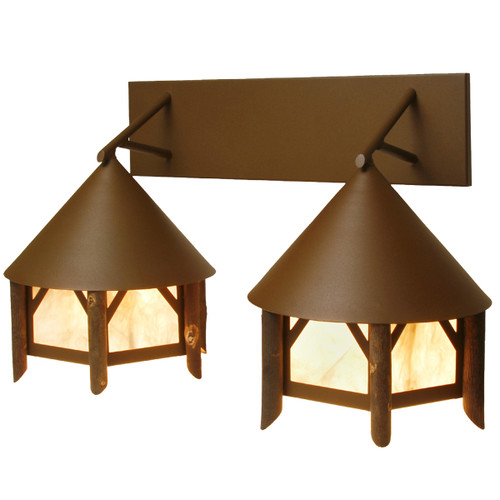 Brown Small Branches Twin Vanity Light
