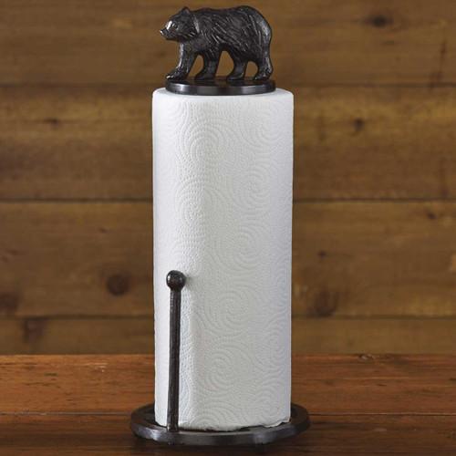 Brown Bear Paper Towel Holder