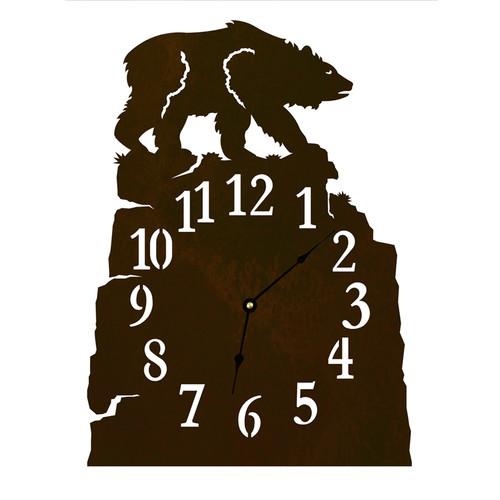 Brown Bear Table Clock