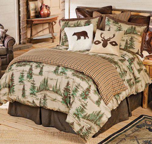 Brown Houndstooth Duvet Cover - Twin